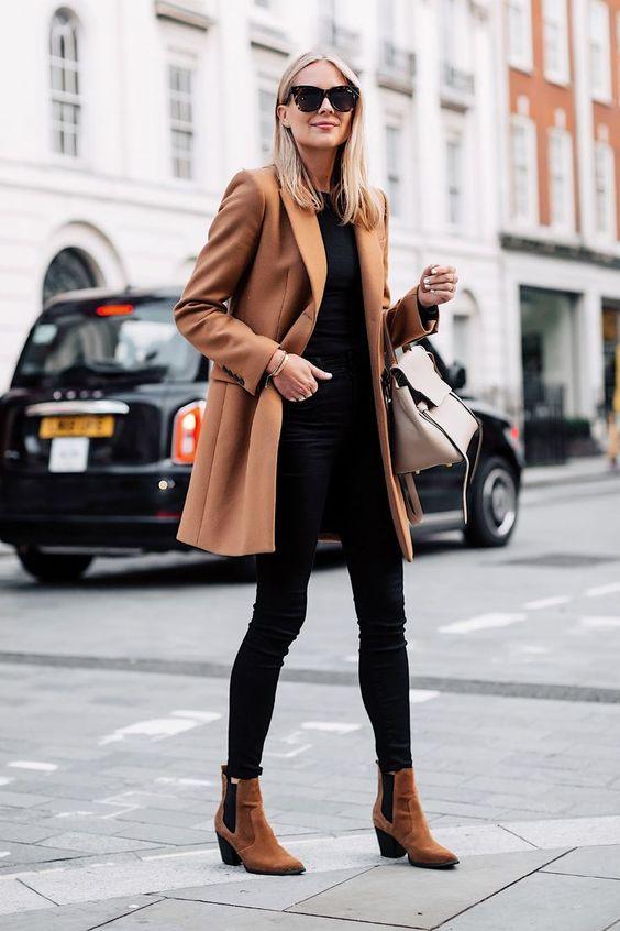 como usar casaco camel look de inverno